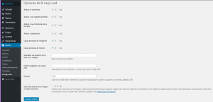 Configuración BJ Lazy Load en WordPress