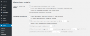Desactivar los comentarios en las nuevas entradas de WordPress
