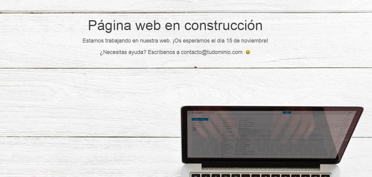Ejemplo página en construcción