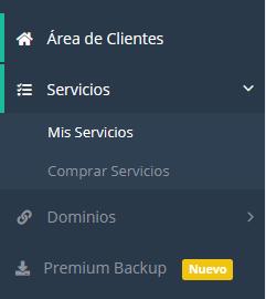 """Acceder a la sección """"Mis servicios"""" de LucusHost"""