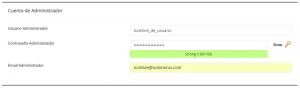 Instalar WordPress desde cPanel paso 3