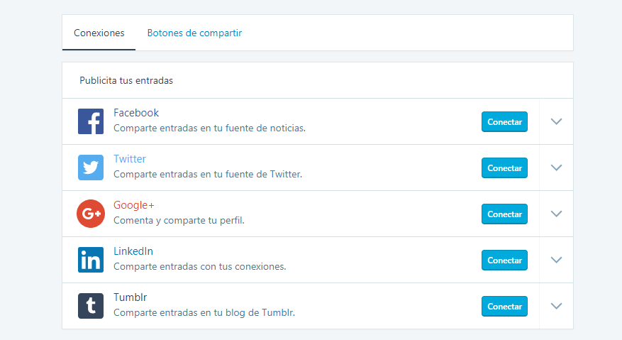 Conectar WordPress con Facebook: Panel de Jetpack