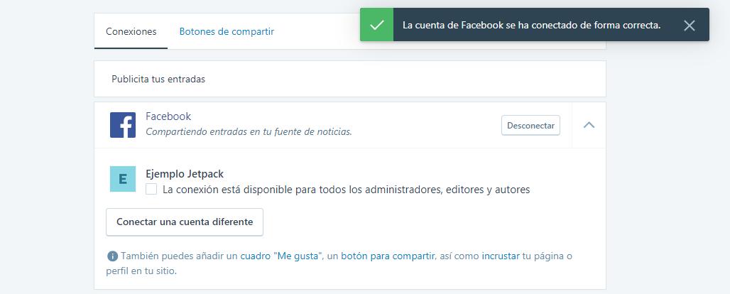 Conectar WordPress con Facebook: Jetpack y Facebook