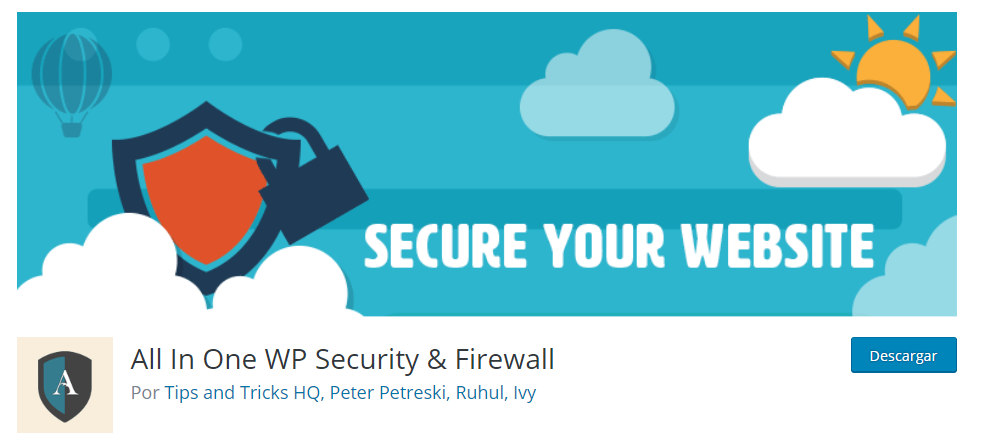 Plugins seguridad WordPress All in One WP Security