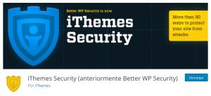 Plugins seguridad WordPress iThemes Security