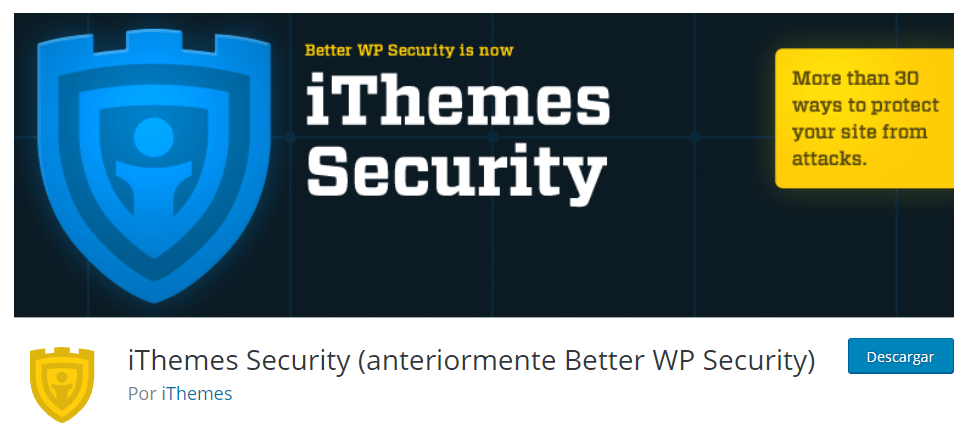 Plugins seguridad WordPress iThemes Security
