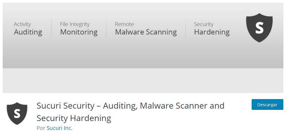 Plugins seguridad WordPress Sucuri Security