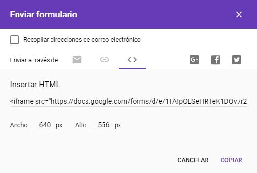 Cómo añadir una encuesta a WordPress con los Formularios de Google: Paso 2