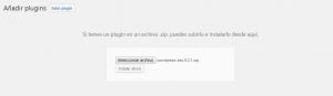 Instalar plugins en WordPress manualmente: Paso 3