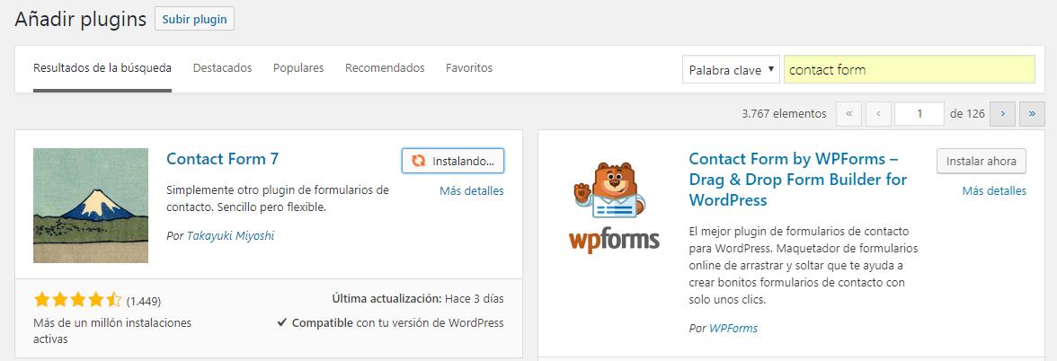 Instalar plugins en WordPress automáticamente: Paso 3