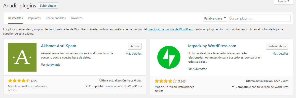 Configurar WordPress Instalar Plugins