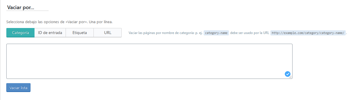 Purgar la cache de una página específica de WordPress con el plugin LSCache for WordPress