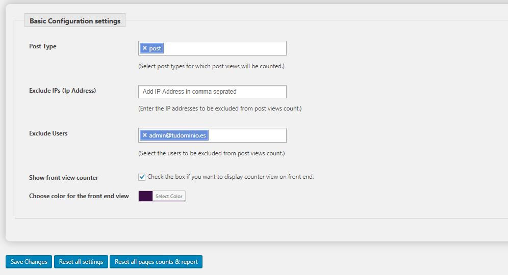 Cómo poner un contador de visitas en WordPress con Page Visit Counter