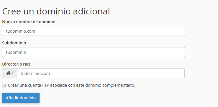 Paso 2 para asociar mi dominio a un hosting