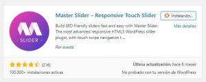 Instalar Master Slider en WordPress