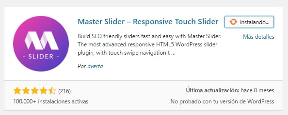 Instalar Master Slider en WordPress