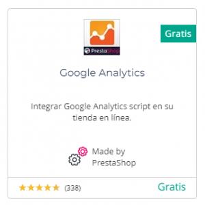 Descargar el módulo de Google Analytics