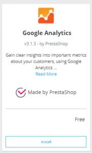 Cómo instalar el módulo de Analytics en PrestaShop