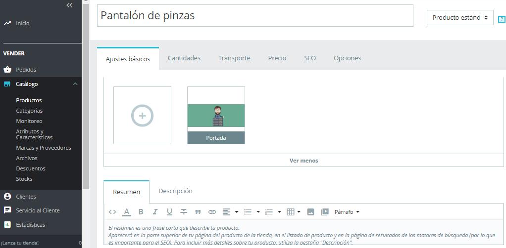 Añadir productos en PrestaShop