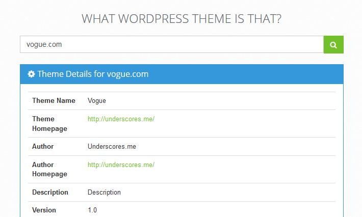 Cómo saber qué plantilla utiliza una web con WordPress Theme Search
