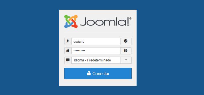 Acceder al escritorio de Joomla