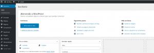 Ejemplo de la interfaz de usuario del CMS WordPress