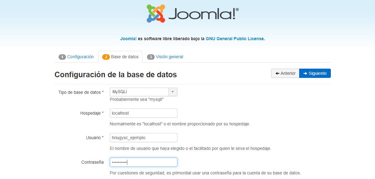 Asistente de inicio rápido de Joomla