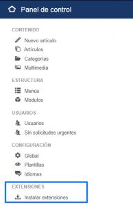 Instalar un plugin en Joomla