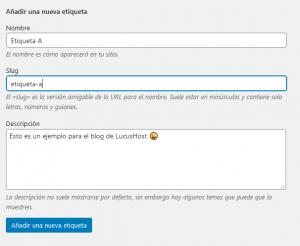 Configurar slugs en categorías y etiquetas de WordPress