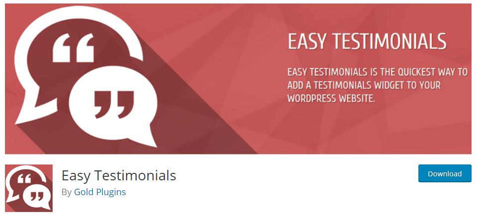 Plugin Easy Testimonials