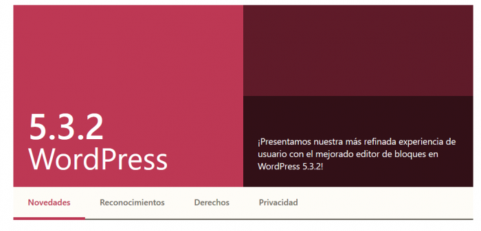 Actualización WordPress 5.3.2