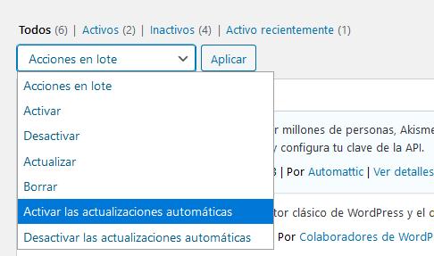 Ejemplo de cómo realizar tareas en bloque en WordPress