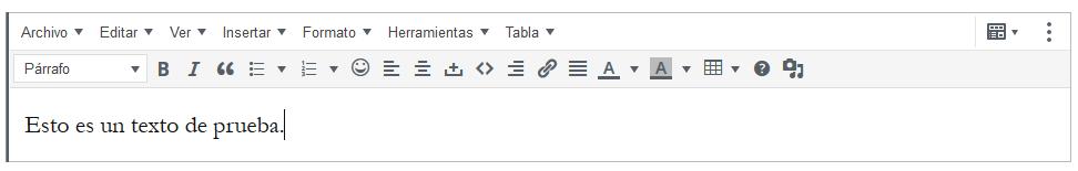Barra de herramientas en los bloques de párrafo de WordPress