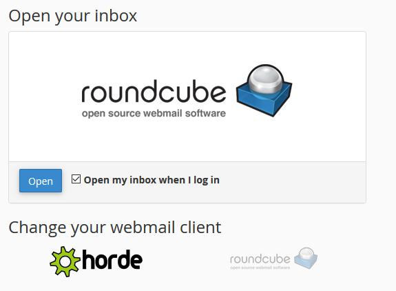 Elegir aplicación de webmail