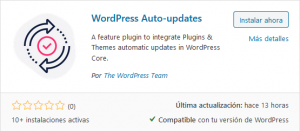 Instalar plugin WordPress Auto-updates