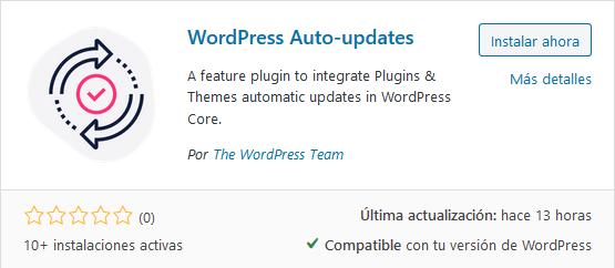 Instalar plugin WordPress Auto-updates