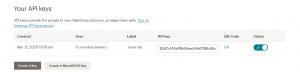 Clave API en Mailchimp