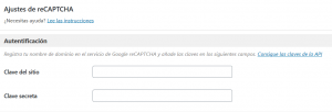 Añadir la clave API de Google reCAPTCHA en WordPress