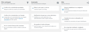 Configuración del plugin Antispam Bee