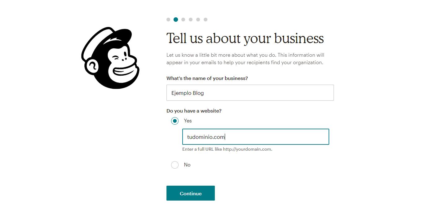 Cubrir la información de contacto de tu empresa