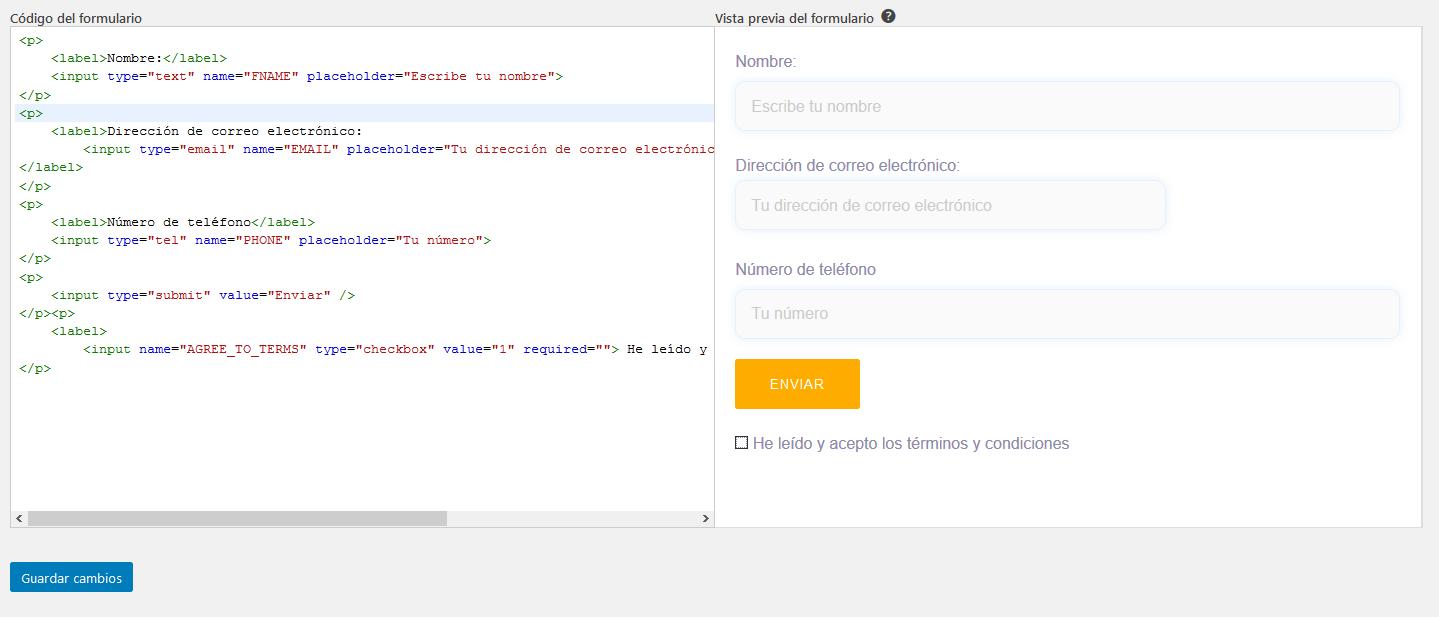 Crear un formulario de suscripción con Mailchimp for WordPress: Paso 1