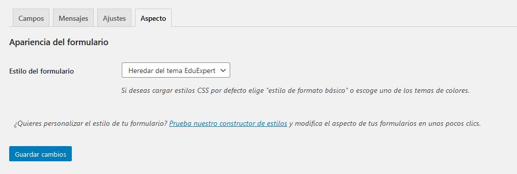 Crear un formulario de suscripción con Mailchimp for WordPress: Paso 4