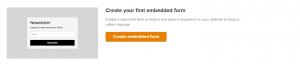 Crear un formulario de suscripción en MailerLite