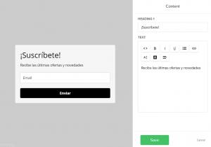 Cambiar el copy en los formularios de suscripción en MailerLite