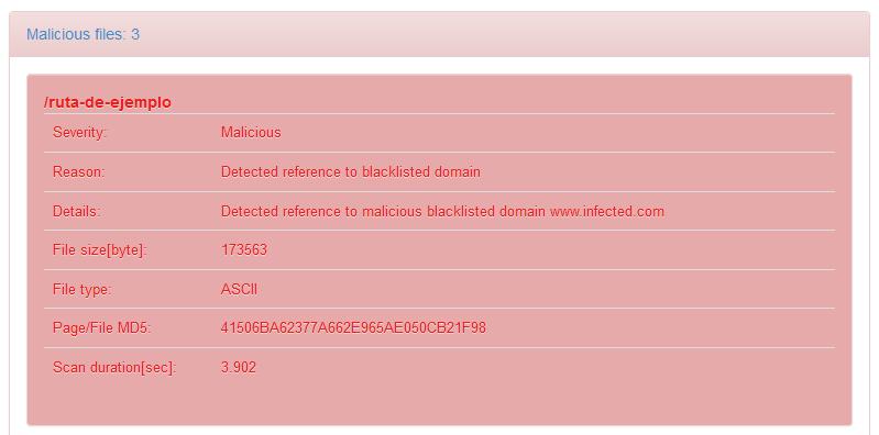 Escaneo de malware con la herramienta Quttera
