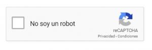 Ejemplo del reCAPTCHA de Google