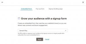 Crear un formulario de suscripción en Mailchimp: Paso