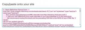 Crear un formulario de suscripción en Mailchimp: Paso 5
