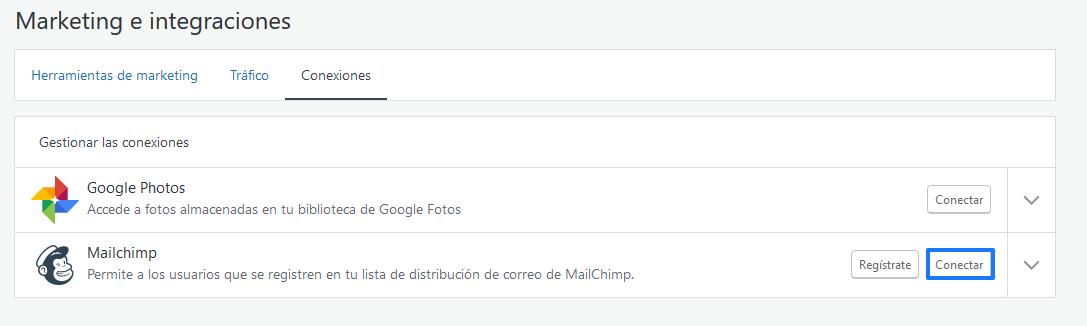 Conectar Mailchimp en WordPress con Jetpack