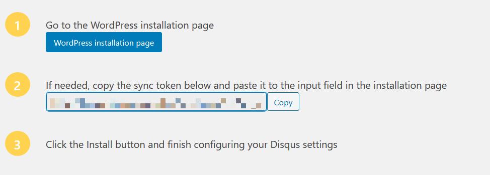 Obtener el token para conectar Disqus con WordPress